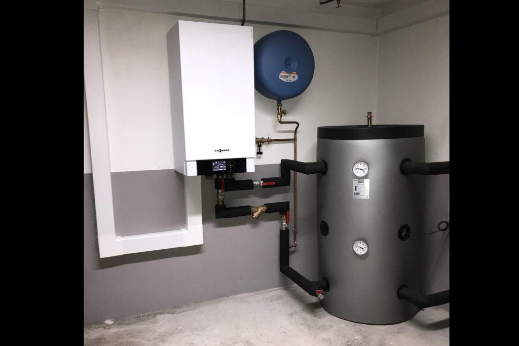 Remplacement de chaudière fioul par une pompe à chaleur Air-Eau VIESSMANN Vitocal 200-S - Colmar 2